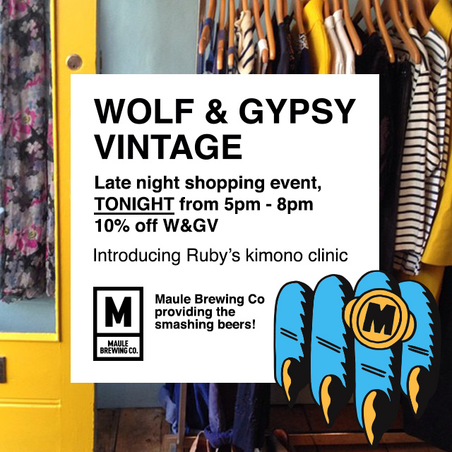 wolf and gypsy xmas shopping event