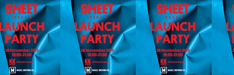 'Sheet' Magazine launch party at KK OUTLET Hoxton
